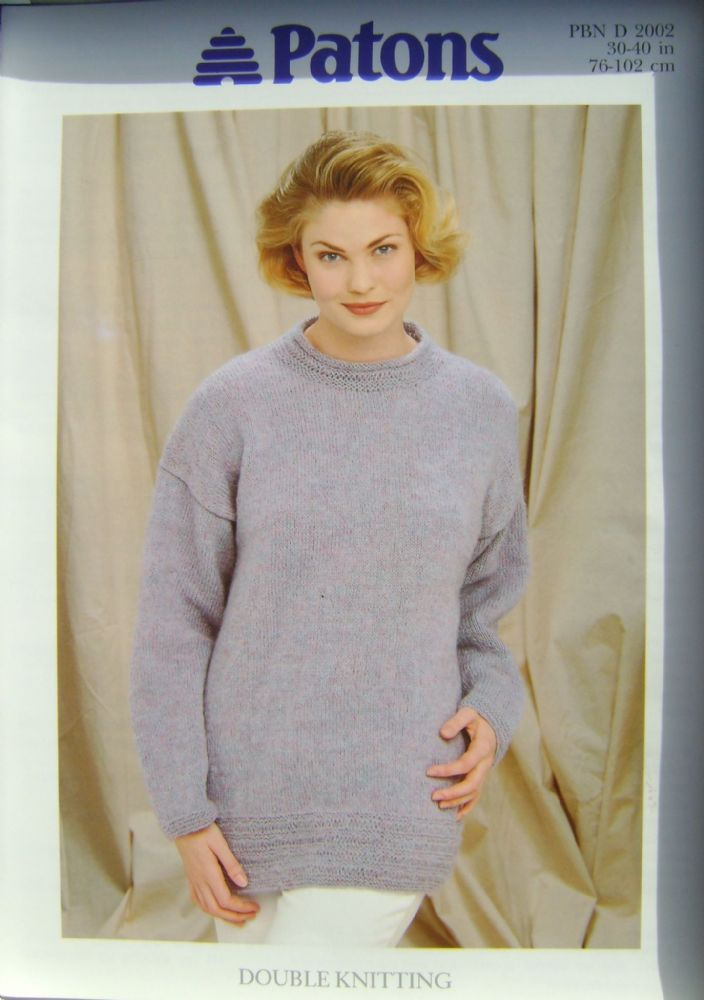 Patons Knitting Pattern 2002